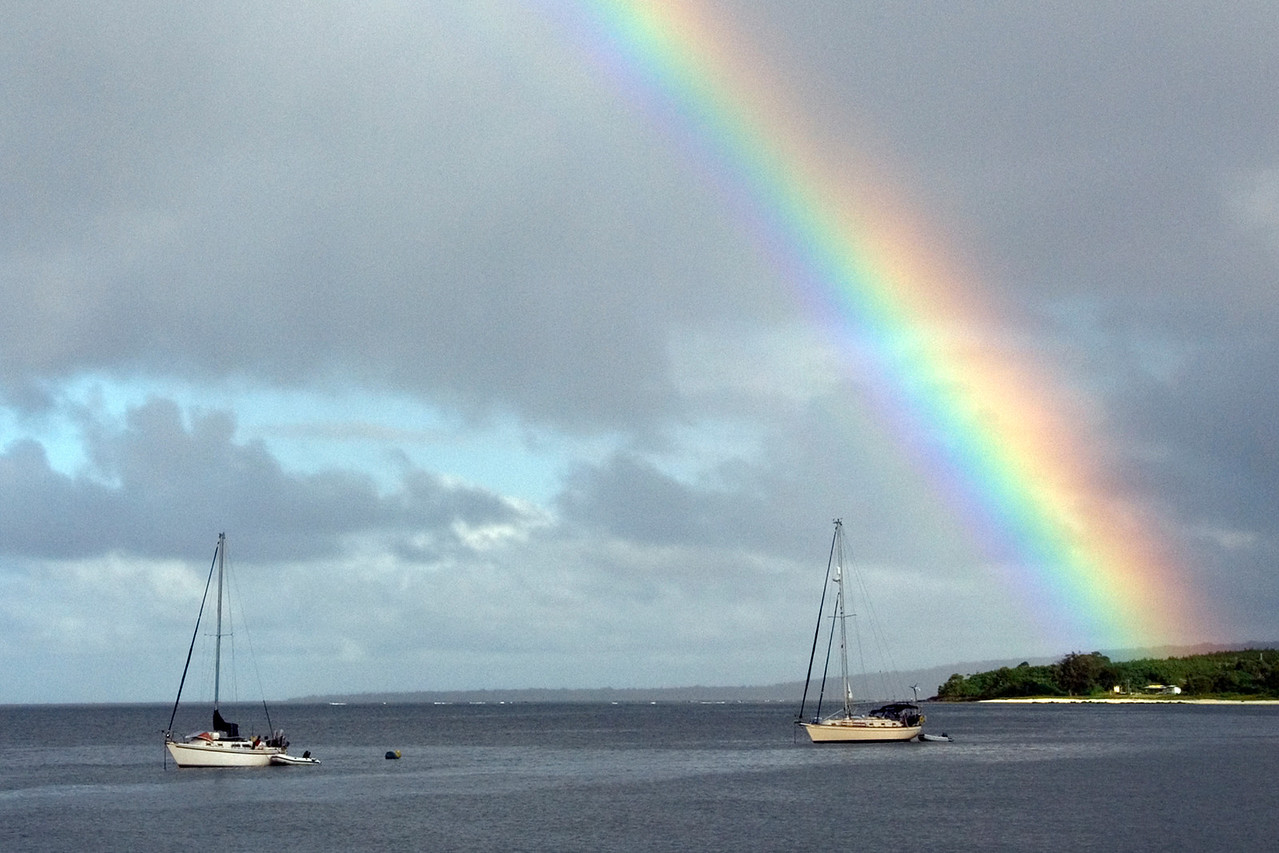 Rainbow and Sailboats - Vanuatu