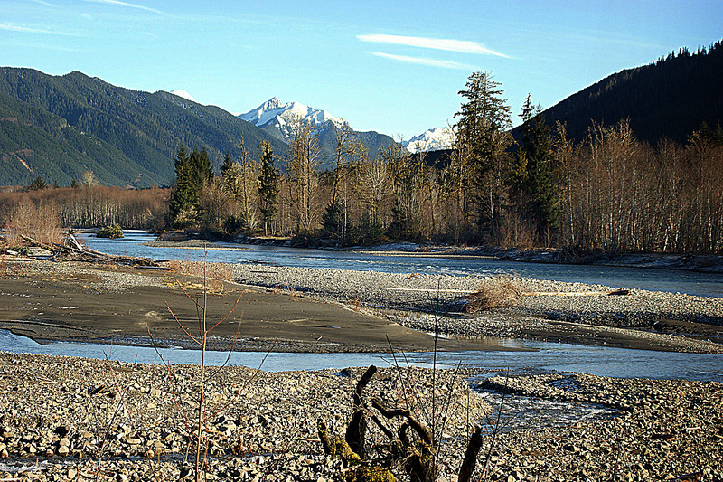 Photo By Bob Bodnar.....................Hoh River Valley, Near Hoh Rain Forest,  Olympic National Park