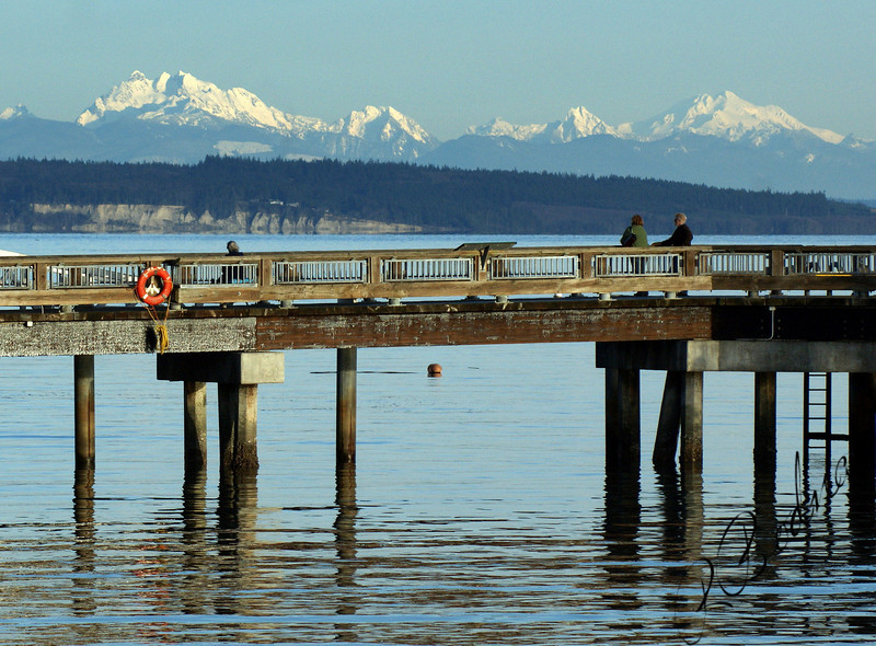 Photo By Bob Bodnar.........Great to View the Mountains from The pier in Port Townsend Washington