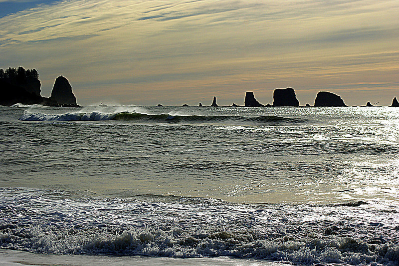 Photo By Bob Bodnar.................The Pacific Surf, at La Push WA.