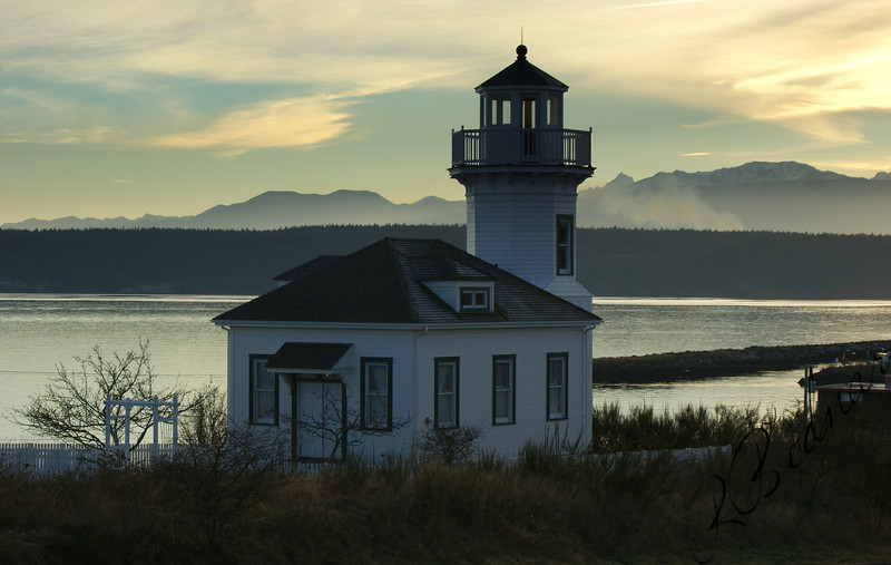 Photo By Bob Bodnar.............Lighthouse in Port Townsend Washington...................  About 45 miles East of  Port Angeles Washington and Olympic National Parks Hurricane Ridge