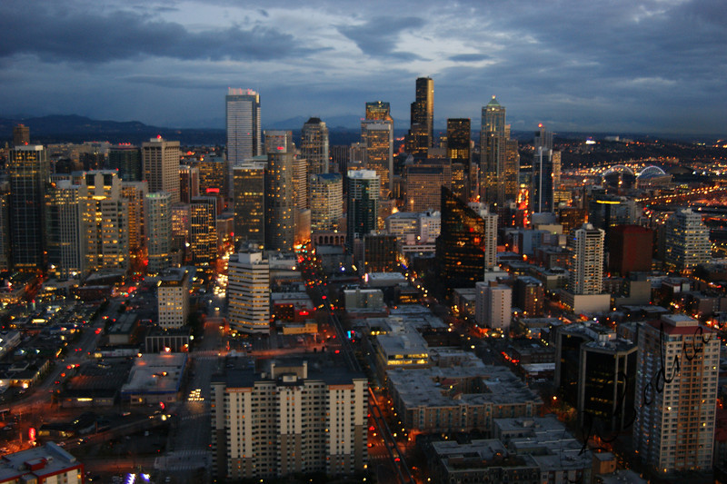 Photo By Bob Bodnar................................Seattle Skyline