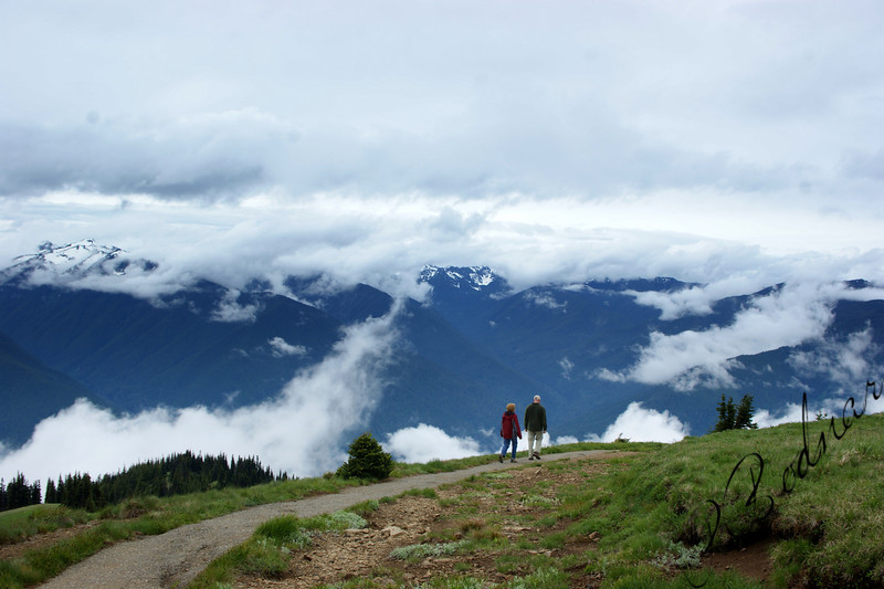 Photo By Bob bodnar.............................................Sandy & Greg on the Trail at Hurricane Ridge