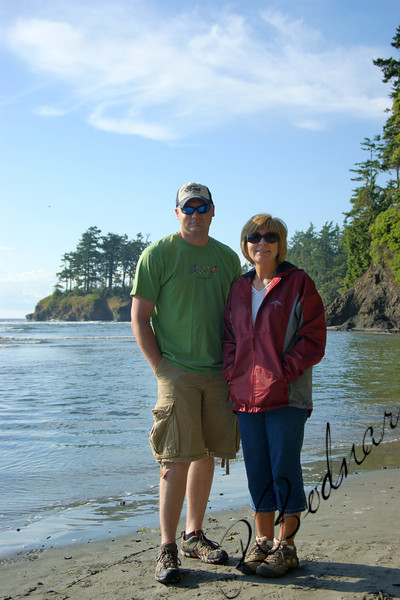 Photo By Bob Bodnar.....................Greg & Sandy on the Beach at Salt Creek, Just west of Port Angeles Wa.
