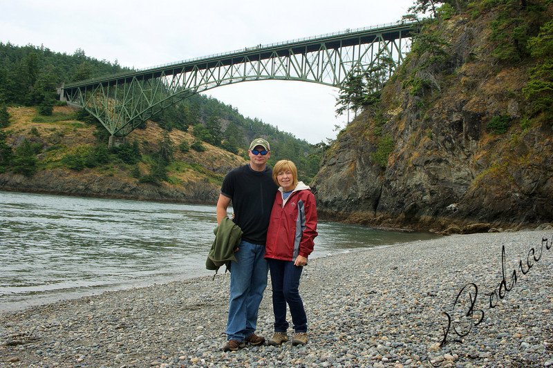 Photo By Bob Bodnar.....................Greg & Sandy on the Beach of Deception Pass, Whidbey Island Wa.