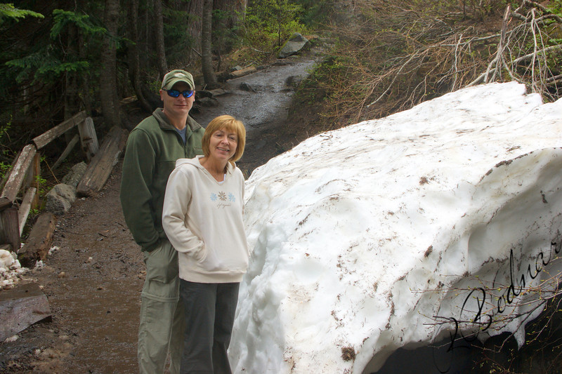 Photo By Bob Bodnar..............Greg & sandy on our way to Marada falls, Mt. Rainier
