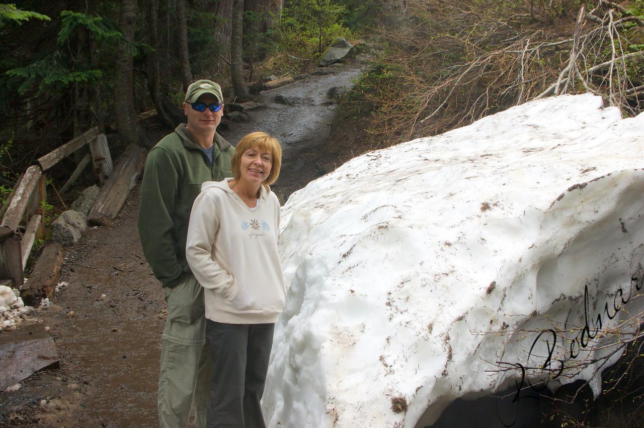 Photo By Bob Bodnar..............Greg & sandy on our way to Marada falls, Mt. Rainier