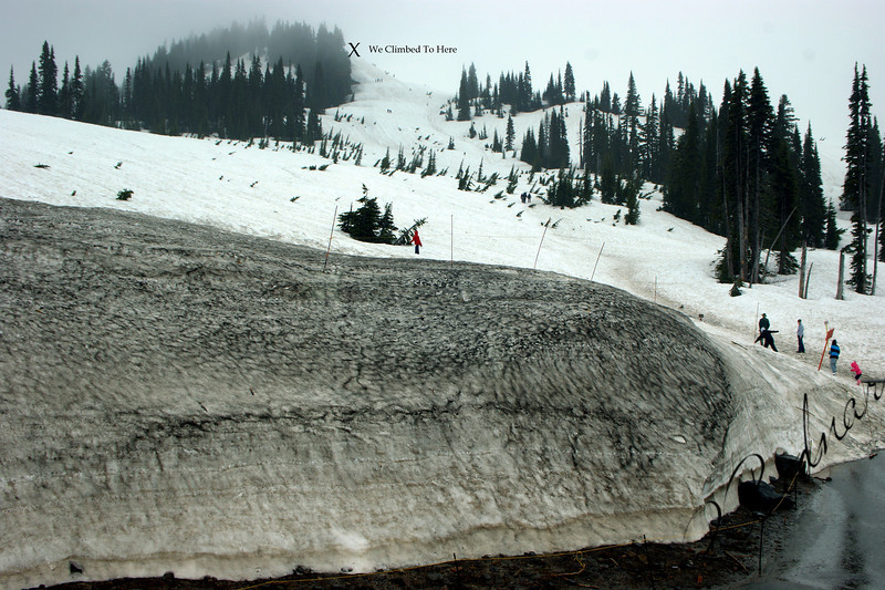 Photo By Bob Bodnar............The X marks that Spot we Hiked to...All the way in the Snow