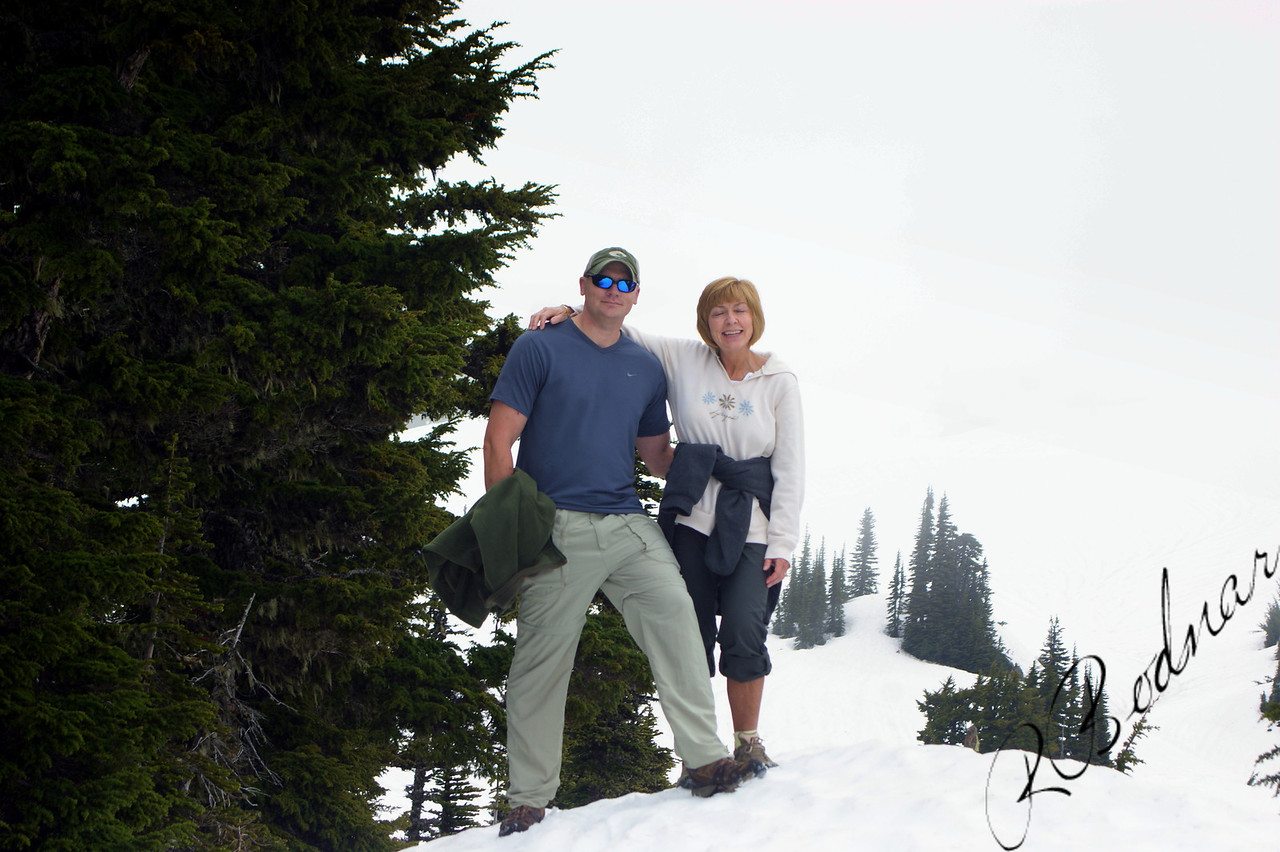 Photo By Bob Bodnar............Greg & Sandy up the Mountain at Mt. Rainier