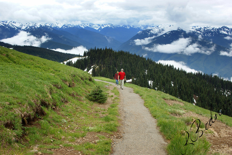 Photo By Bob Bodnar..................................Greg & Sandy on the Trail at Hurricane Ridge