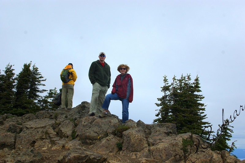 Photo By Bob Bodnar......................................Greg & Sandy on top of Mountain at Hurricane Ridge
