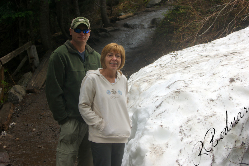 Photo By Bob Bodnar..............Greg & Sandy on our way to Marada Falls, Mt Rainier
