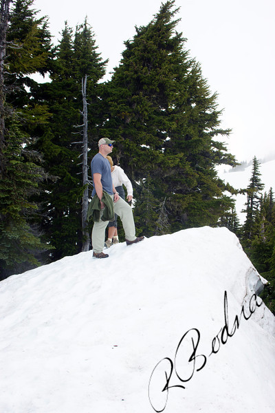 Photo By Bob Bodnar...............On the Summit of the mountain, at Mt. Rainier