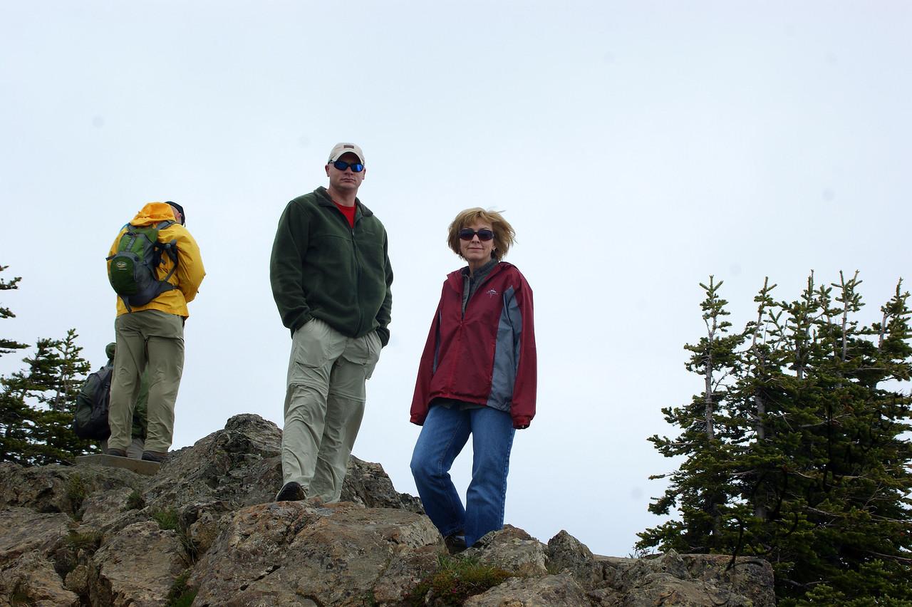 Photo By Bob Bodnar.................................Greg & Sandy on top of Mountain at Hurricane Ridge