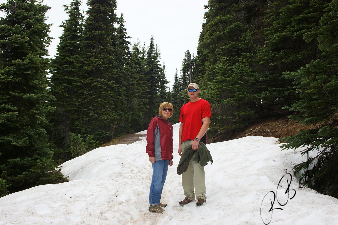 Photo By Bob Bodnar........................................Sandy & Greg on the Trail at Hurricane Ridge