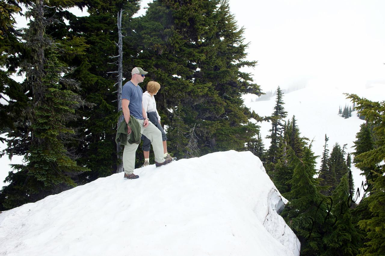 Photo By Bob Bodnar..........Greg & Sandy on the Summit of the Mountain, at Mt. Rainier