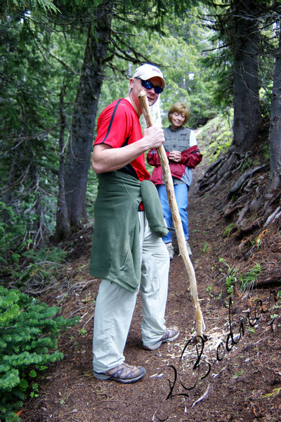 Photo By Bob Bodnar......................................Greg & Sandy on a Trail at Hurricane Ridge