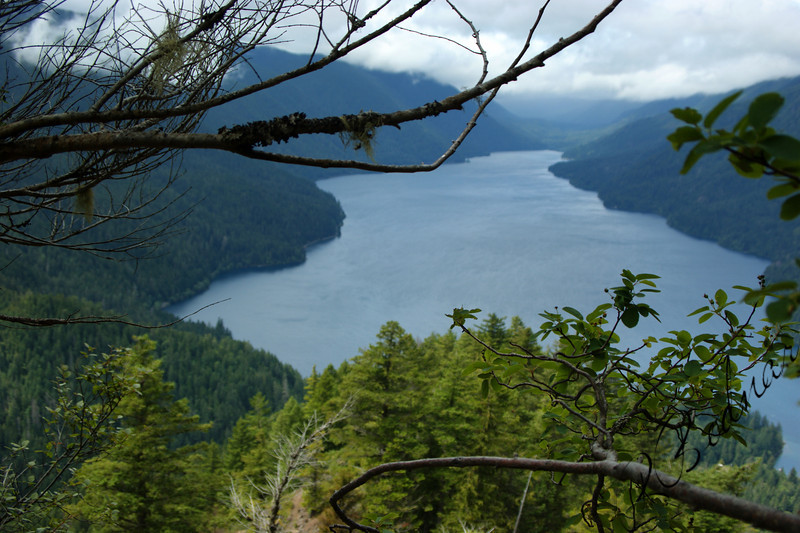 Photo By Bob Bodnar..................Crescent Lake view from Trail to Storm King Summit