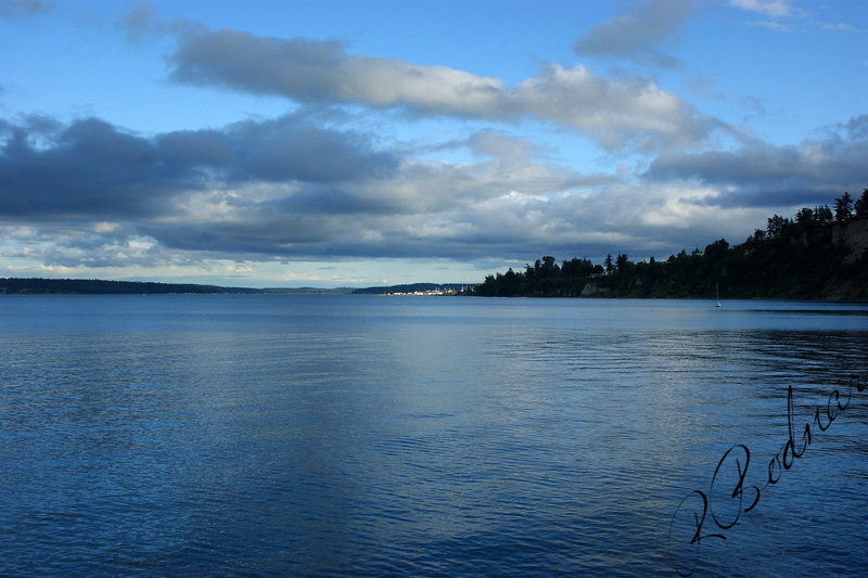 Photo By Bob Bodnar........View of Strait of Juan de Fuca from Point Wilson