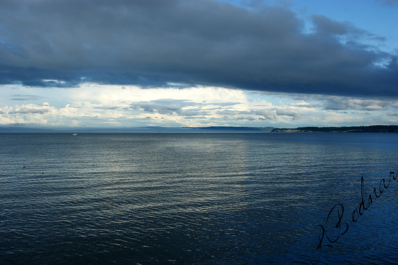 Photo By Bob Bodnar......View of Strait of Juan de Fuca from Point Wilson