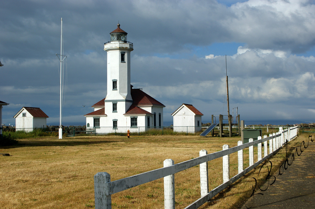 Photo By Bob Bodnar............................Point Wilson Lighthouse,  Fort Worden State Park, Port Townsend WA.