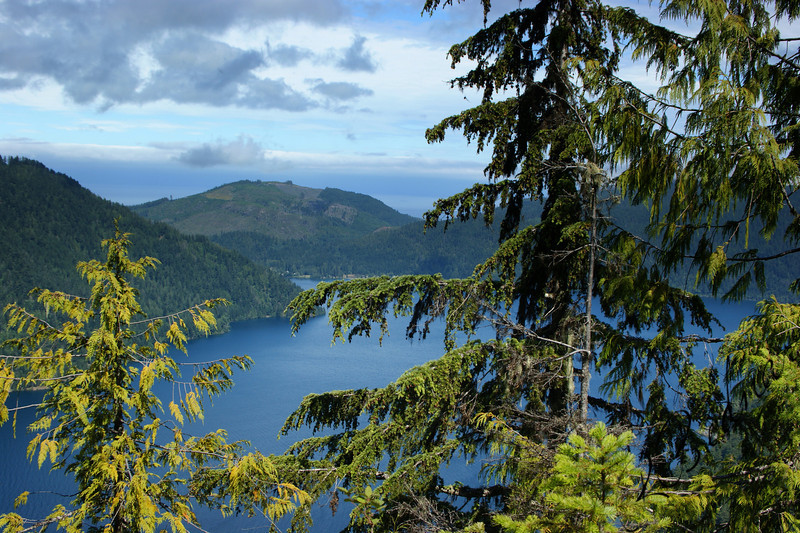 Photo By Bob Bodnar..............Lake Crescent from the Trail of Storm King Mountain