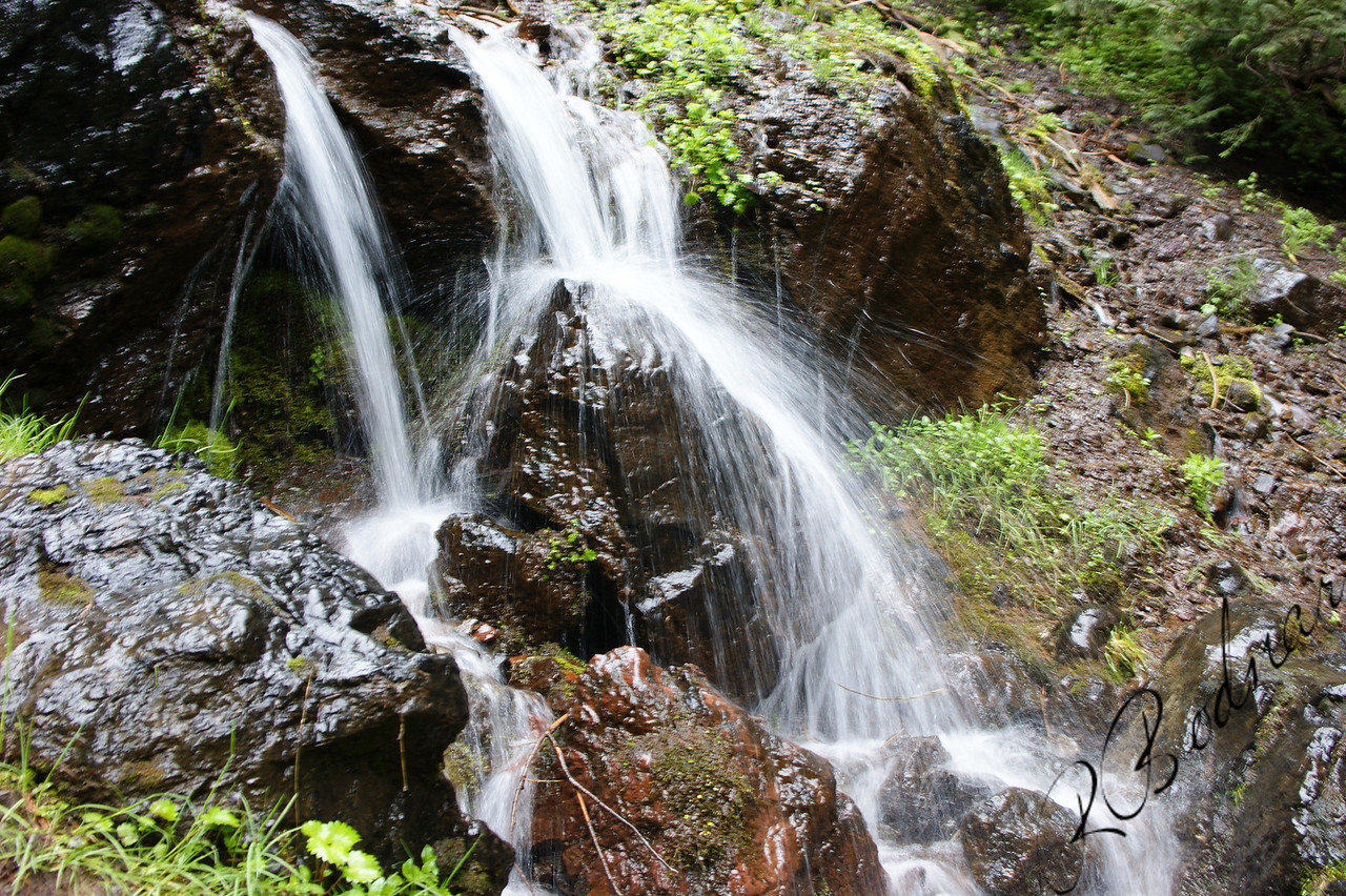 Photo By Bob Bodnar................Hurricane Ridge Waterfall