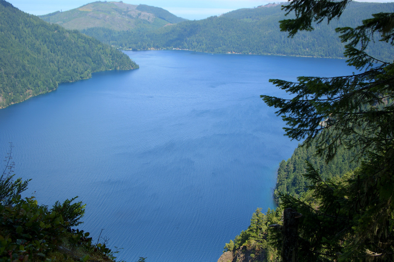 Photo By Bob Bodnar................Lake Crescent from Trail going to Storm King Summit
