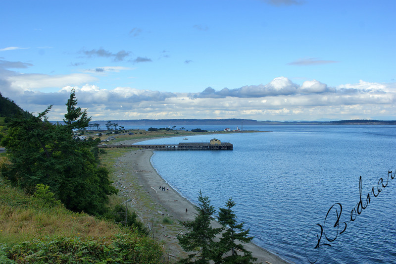Photo By Bob Bodnar.......View of Point Wilson Beach area, Fort Worden State Park, Port Townsend WA.