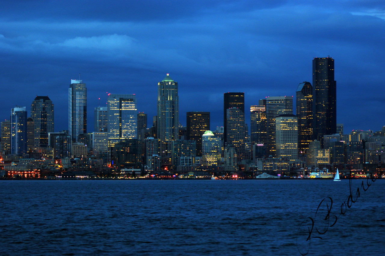 Photo By Bob Bodnar.........Seattle Skyline