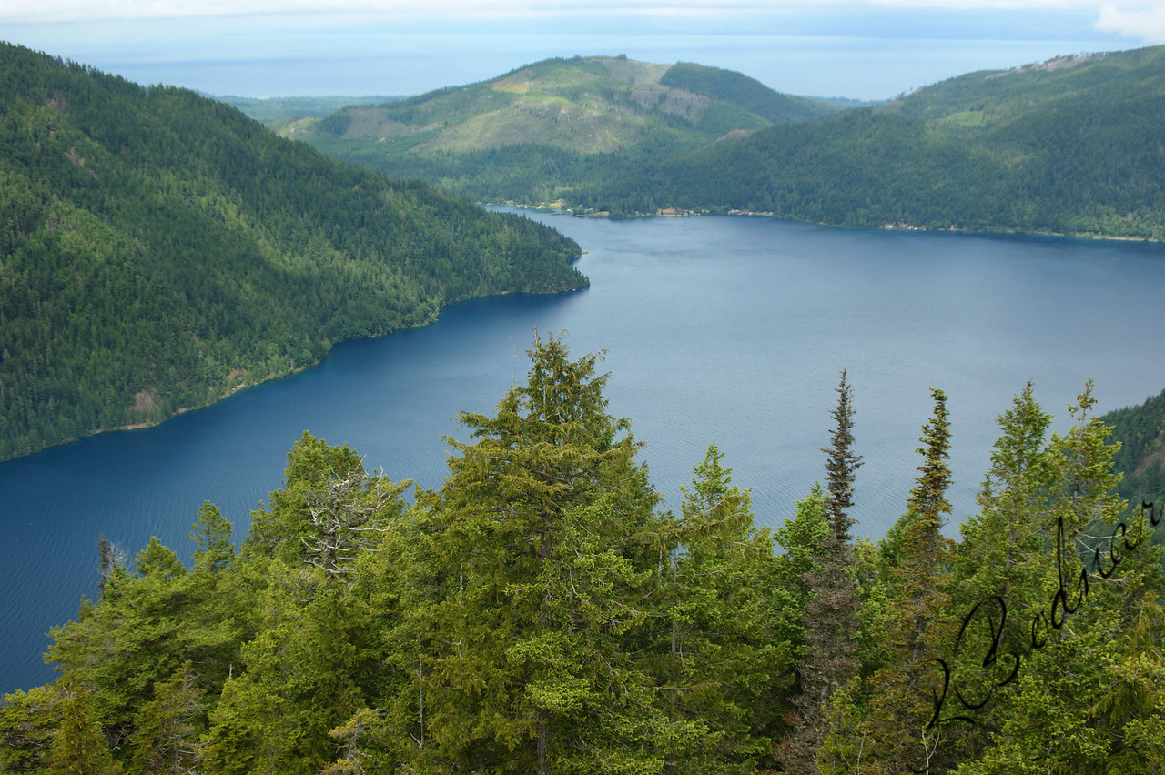 Photo By Bob Bodnar....................Crescent Lake from the trail of Storm King Mountain