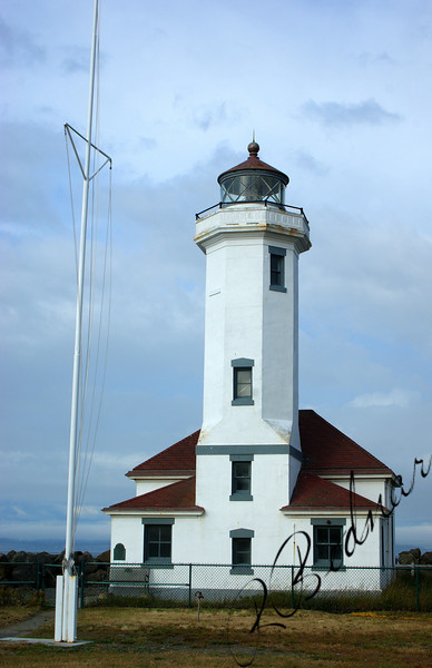 Photo By Bob Bodnar.....Point Wilson Lighthouse, Fort Worden State Park, Port Townsend WA.