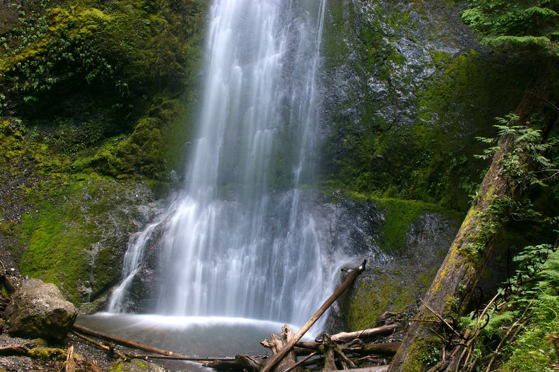 Photo By Bob Bodnar.........................................Lower part of Marymere Falls