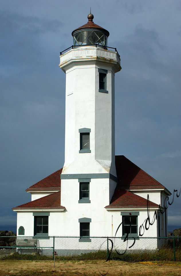 Photo By Bob Bodnar.......Point Wilson Lighthouse, Fort Worden State Park, Port Townsend WA.