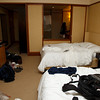Our hotel room at the Pan Pacific Hotel.