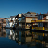 Floating homes at Fisherman's Wharf.
