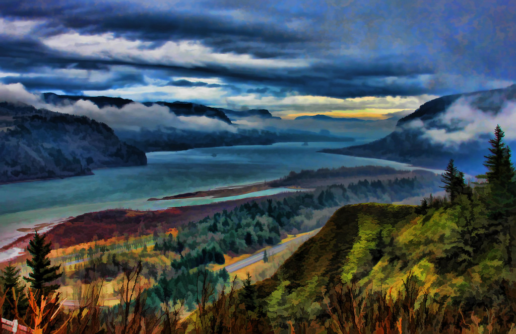 Columbia River Gorge Painted