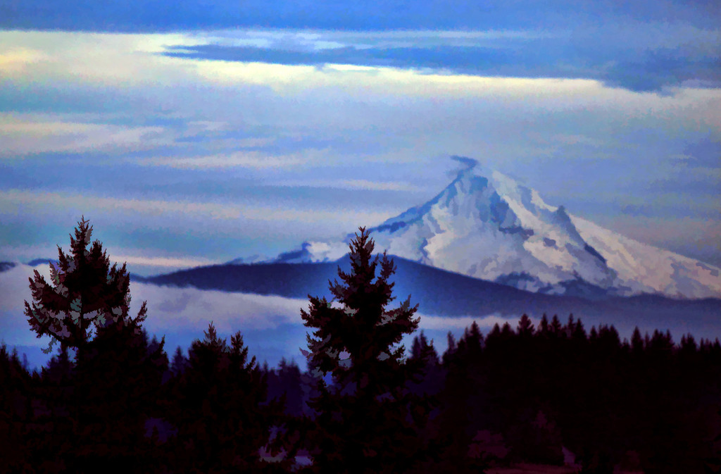 Mt Hood Painted