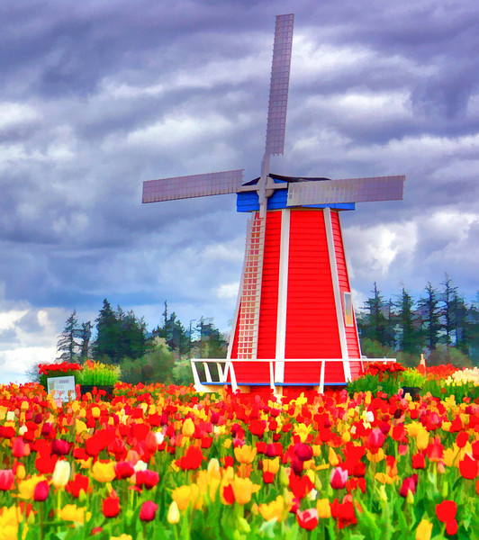 windmill Painted