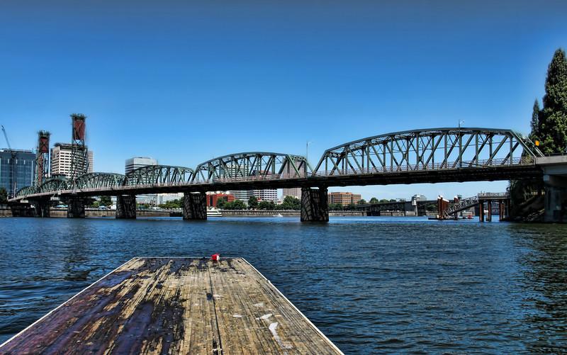 Hawthorne Bridge, water view
