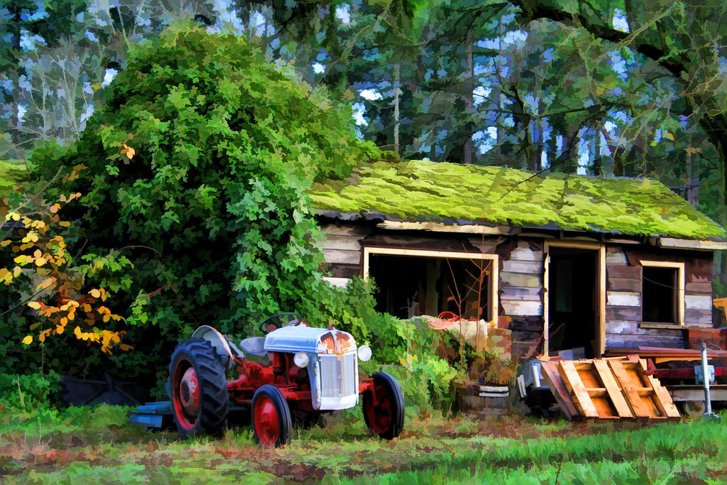 rural tractor painted