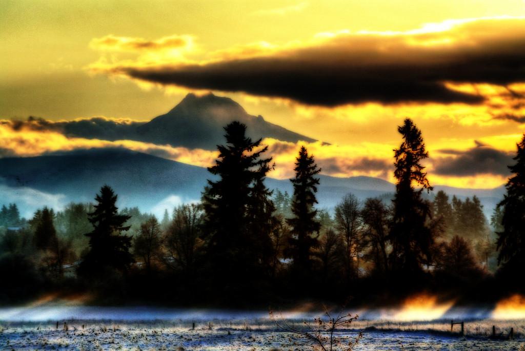 Morning Sunrise Cold Winter Morning
