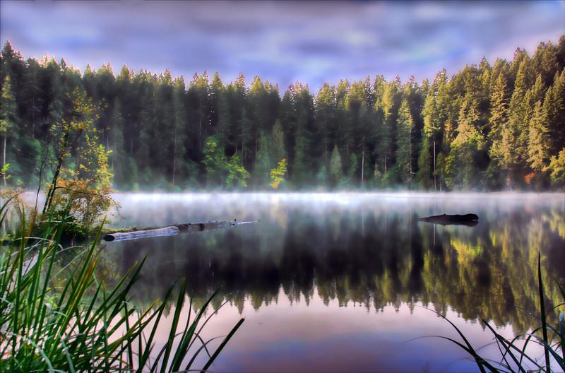 Battle ground lake Misty