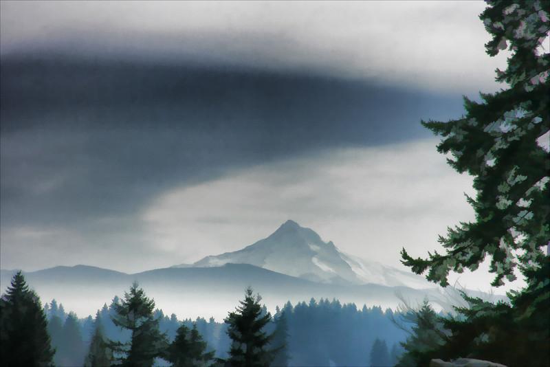 Mt Hood Feb09 painted