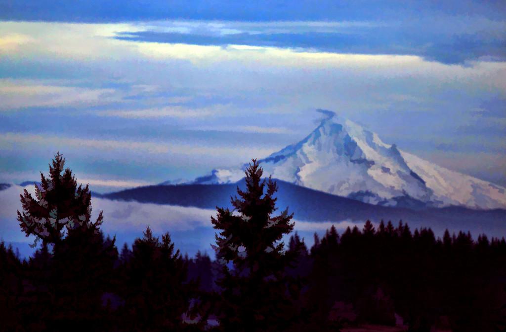 Mt Hood Painted