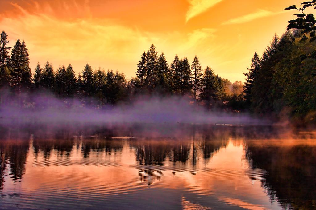 Sunrise on Farhger lake Enhanced