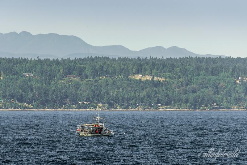 Crab boat, 'Golden Ocean', south of Nanaimo, Vancouver Island, British Columbia
