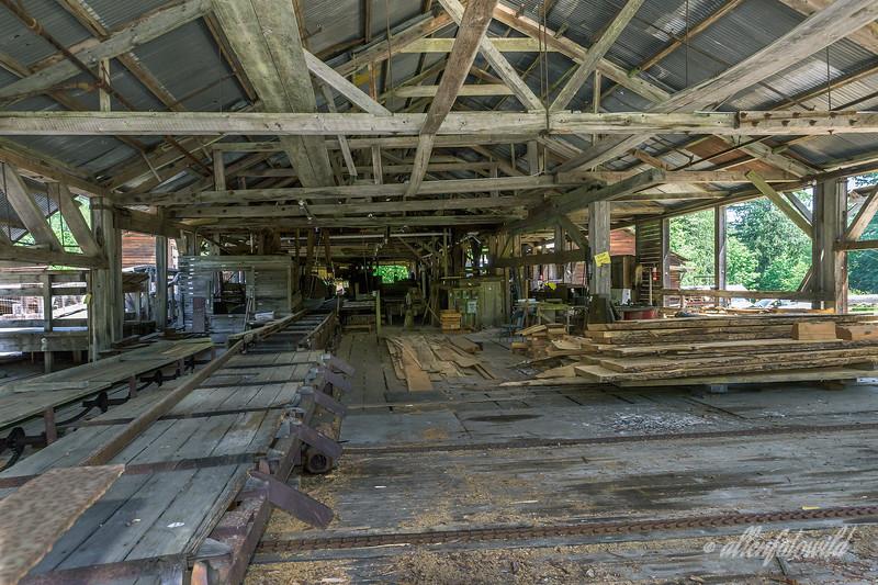 Inside the McLean Mill (1927), steam-powered sawmill, Alberni Valley, British Columbia
