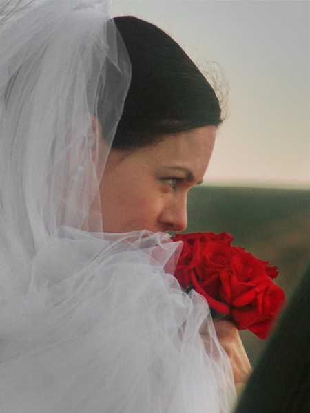 "A close up of the ""bride."""