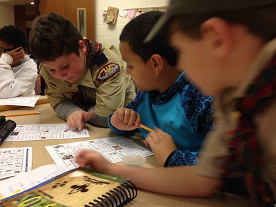 2016 Webelos 2 Den meeting